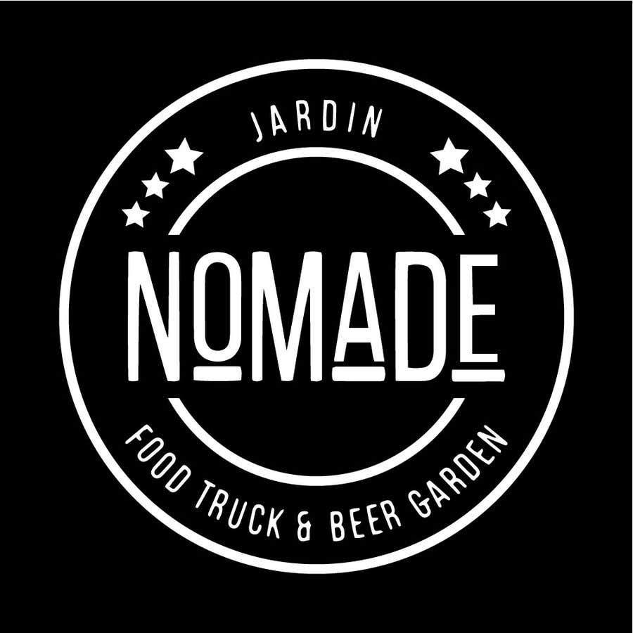 """Contest Entry #50 for A partir del logo adjunto debe crear uno que incluye todo menos """"nro.170"""", """"mallinkrodt"""" cambia por """"nomade"""", """"craft beer"""" cambia por """"beer garden"""" es decir, incluir: jardin, Nomade, food trucks & beer garden"""