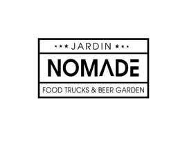 """#35 cho A partir del logo adjunto debe crear uno que incluye todo menos """"nro.170"""", """"mallinkrodt"""" cambia por """"nomade"""", """"craft beer"""" cambia por """"beer garden"""" es decir, incluir: jardin, Nomade, food trucks & beer garden bởi flyhy"""