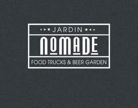 """#46 cho A partir del logo adjunto debe crear uno que incluye todo menos """"nro.170"""", """"mallinkrodt"""" cambia por """"nomade"""", """"craft beer"""" cambia por """"beer garden"""" es decir, incluir: jardin, Nomade, food trucks & beer garden bởi flyhy"""