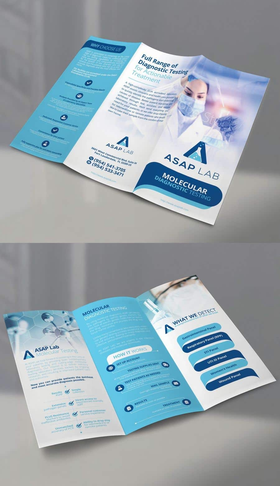 Contest Entry #8 for Tri-Fold Brochure for Medical LAB