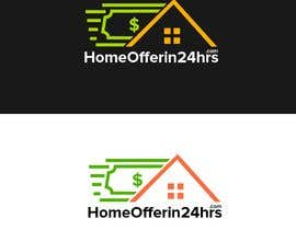 #16 untuk a logo for my business called HomeOfferin24hrs.com.  We look for people that are looking to sell their house fast for cash.  we make a cash offer within 24 hrs after viewing.  we will buy the house in any and as-is condition oleh g700