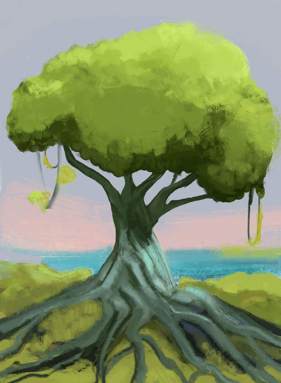 Proposition n°5 du concours Illustrate Tree for Card Back in a Game