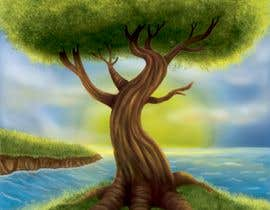 nº 9 pour Illustrate Tree for Card Back in a Game par irenkgov