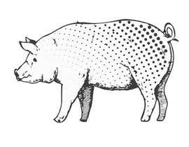 #45 for Illustration of a Pig Unicorn. (Pig with Horn) af htmlsafayet