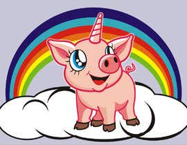 #46 for Illustration of a Pig Unicorn. (Pig with Horn) af tatangsaefudin