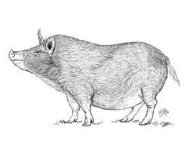 #41 for Illustration of a Pig Unicorn. (Pig with Horn) af kaushalyasenavi