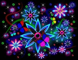 #62 for Create a Neon Flower Design With Lots of Flowers (full image coverage) af rushtoroll