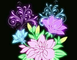 #49 for Create a Neon Flower Design With Lots of Flowers (full image coverage) af mohhomdy