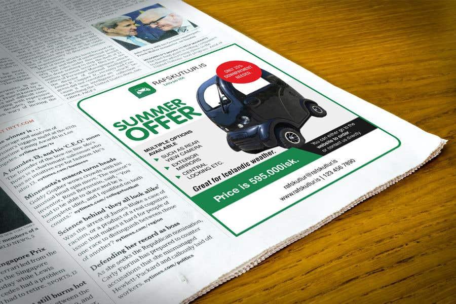 "Intrarea #24 pentru concursul ""Graphic designing: Newspaper ad"""