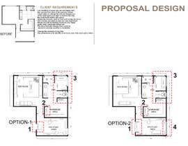 #26 for Redesign floor plan of parents retreat including bathroom, study and walk in wardrobe af adeebarch017