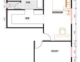 #33 for Redesign floor plan of parents retreat including bathroom, study and walk in wardrobe af arifuzzaman03