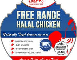 Nro 9 kilpailuun Graphic Design for US chicken label to be placed on bagged chicken käyttäjältä creationz2011
