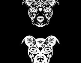 nº 14 pour Sugar Skull Pitbull Design par mdzafar997