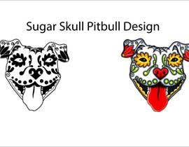 nº 5 pour Sugar Skull Pitbull Design par qurat255