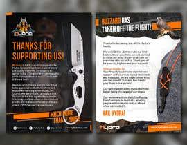Nro 48 kilpailuun Flyer for a kickstarter project A6 with our logo and product. käyttäjältä highcall