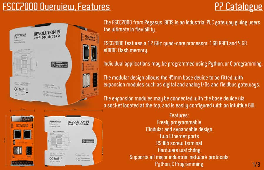 Entry #1 by modeleSKETCH for Build 3 pages industrial product