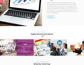 #9 para Social Media Marketing Agency Web site Mock Up por saidesigner87