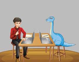 #2 cho Need an illustration of a man working at a desk with a dinosaur bởi farhanqureshi522