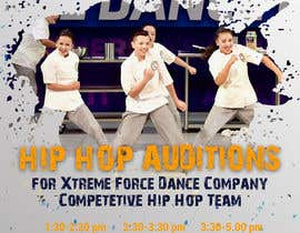 nº 12 pour Hip Hop Flier For Auditions par annadesign2549