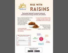 #18 para Poster design for Wellcure - rise with raisins por mayurbarasara