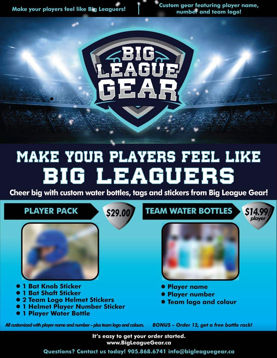 Konkurrenceindlæg #58 for Create a flyer for Big League Gear