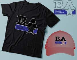 """#13 untuk This """"BA"""" stands for Black America, I wanna put it on the front of a cap and a t-shirt & market it. freedom expression such as font size, color etc. oleh hasembd"""