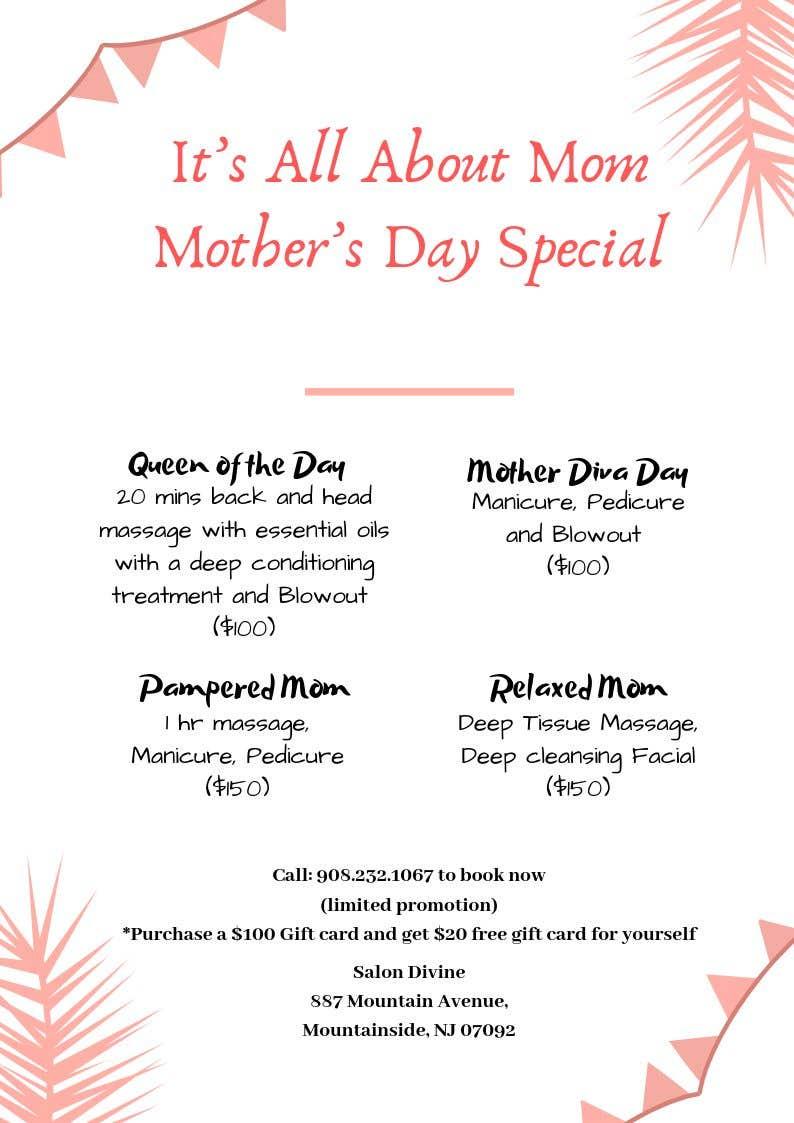 Inscrição nº 58 do Concurso para Poster/Flyer to promote business - Mothers Day