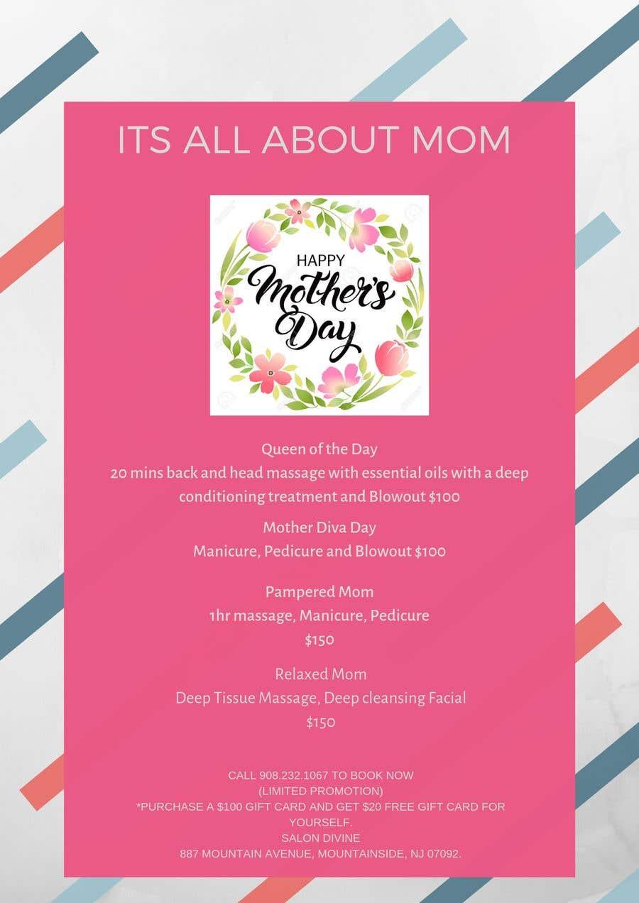 Inscrição nº 66 do Concurso para Poster/Flyer to promote business - Mothers Day