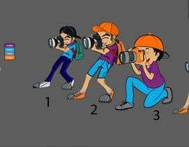 #119 for Photographer Cartoon Character af mdmokibur