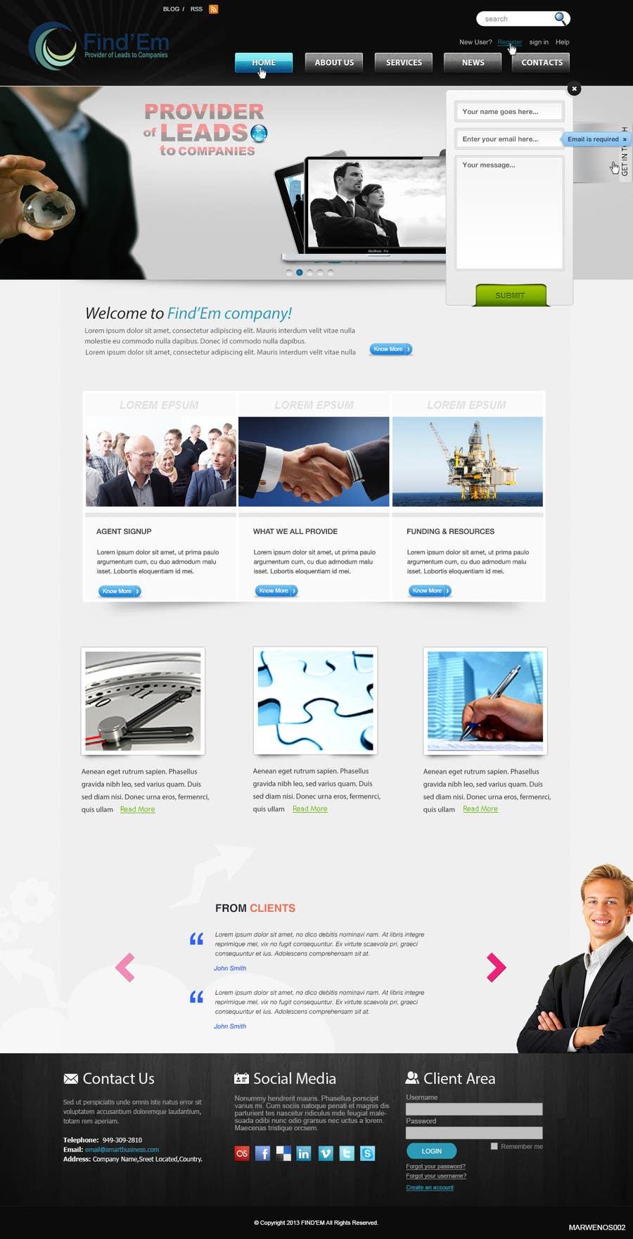 Bài tham dự cuộc thi #                                        5                                      cho                                         Website Design for Find´Em