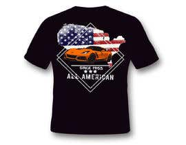 #24 for Corvette American Made Tee Shirt by Sangrapix
