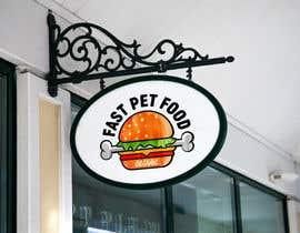 #1824 untuk LOGO - Fast food meets pet food (modern, clean, simple, healthy, fun) + ongoing work. oleh rokonranne