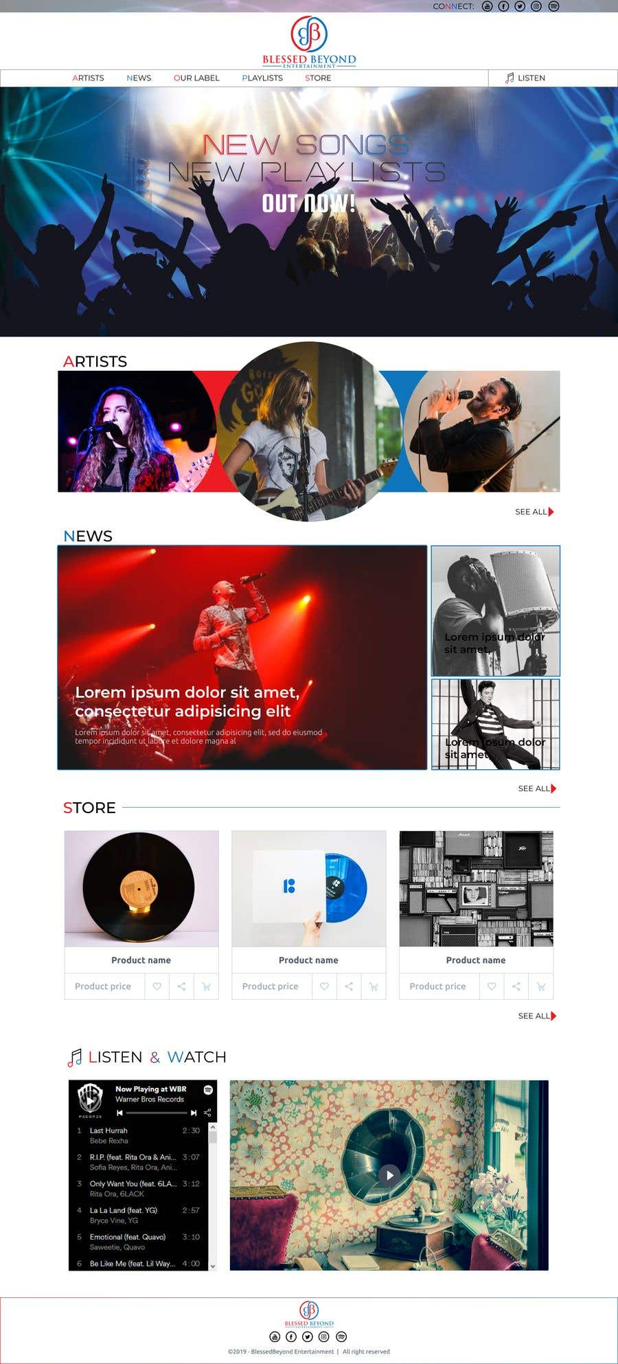 Contest Entry #82 for Design a homepage