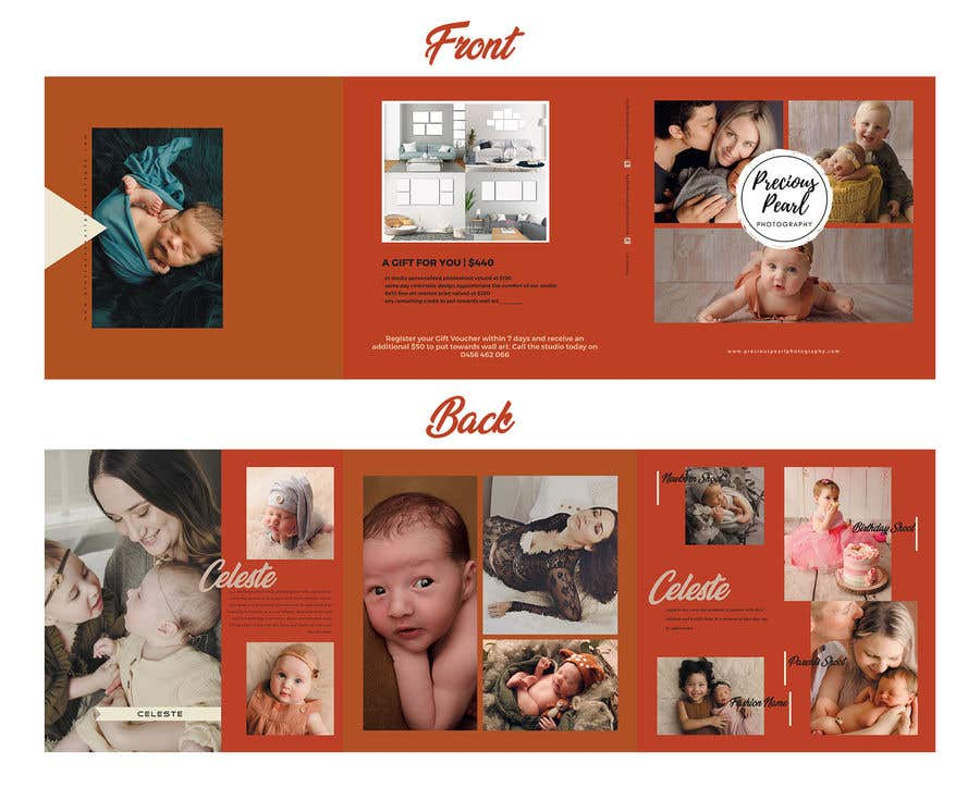 Inscrição nº 15 do Concurso para Design a 5x5 trifold gift voucher with a rustic earthy feel neat and well designed. - 10/04/2019 11:11 EDT