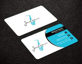 #113 for Design business cards for musician - Saxophone - Logo available by patitbiswas