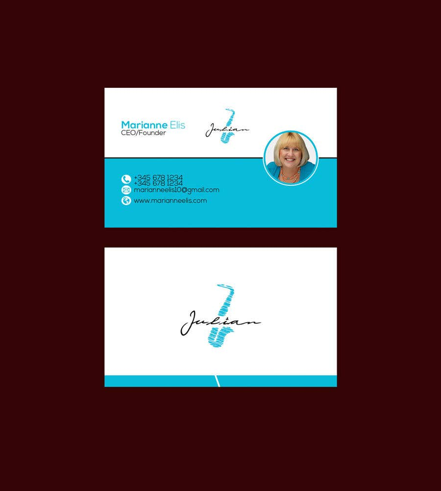 Contest Entry #331 for Design business cards for musician - Saxophone - Logo available