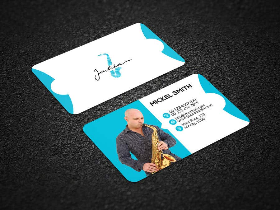 Contest Entry #372 for Design business cards for musician - Saxophone - Logo available