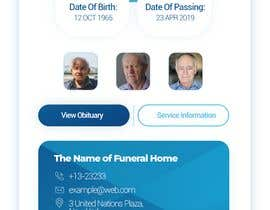 #40 for Graphic Design Layout For Funeral Home App (The Contest is for the homepage of the App Only) Additional pages based off design by Abdallahsaeed1