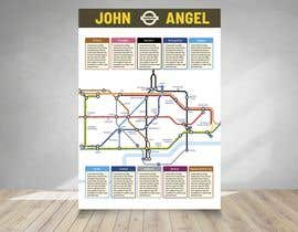 #14 cho Design a vintage style London underground wedding seating plan poster bởi mindlogicsmdu