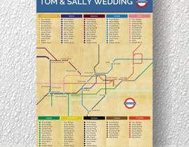 #15 untuk Design a vintage style London underground wedding seating plan poster oleh mindlogicsmdu