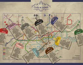 #19 untuk Design a vintage style London underground wedding seating plan poster oleh Shtofff