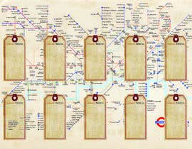 #7 for Design a vintage style London underground wedding seating plan poster by philwalker