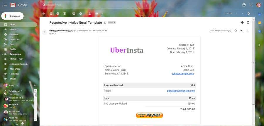 Contest Entry #8 for I need a responsive email invoice template