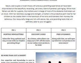 Nro 7 kilpailuun Landing page text (Collecting emails for newsletter) for blog about kids, parents etc käyttäjältä shibrahmisbah