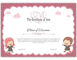 #7 for design a love certificate template with my logo af SLP2008