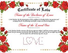 #1 for design a love certificate template with my logo af marloses