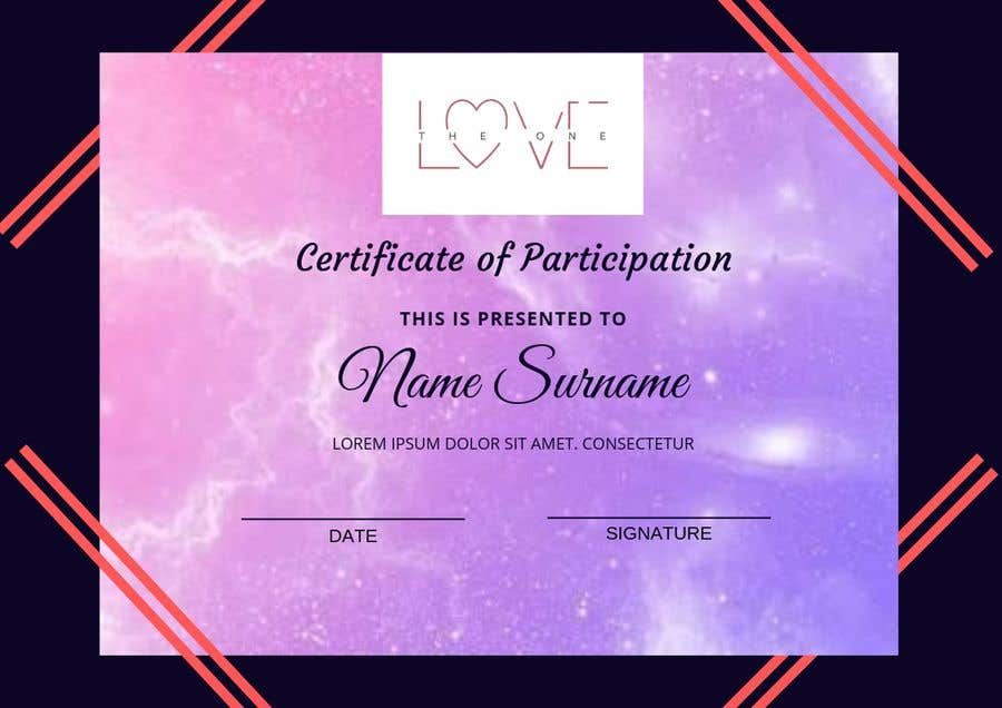 Contest Entry #6 for design a love certificate template with my logo