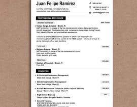 #50 for resume design by s13almor