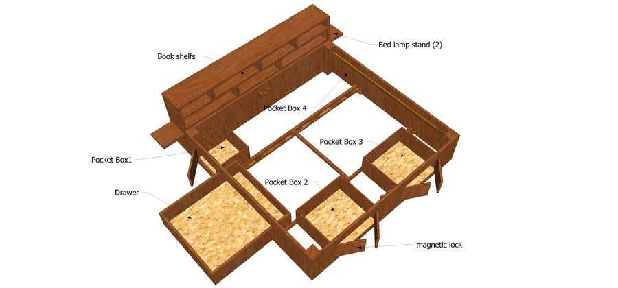Конкурсная заявка №2 для Design a bed