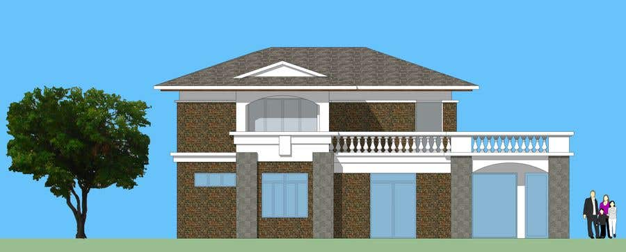 Contest Entry #36 for Draw colonial elevation for a floor plan